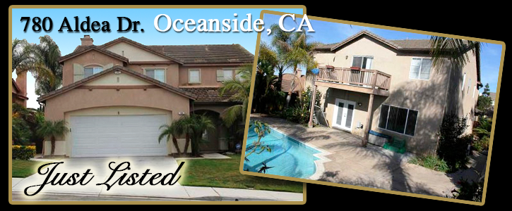 780 Aldea Drive, Oceanside, CA just listed by Michael Gaddis, J.D. Realty Group - May 13