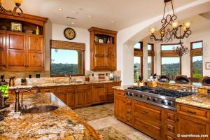 Jasmine Crest kitchen granite counter tops and island