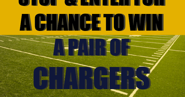 Enter for a chance to win a pair or Chargers tickets when you visit Michael Gaddis, J.D. Realty Group at Oceanside Harbor Days
