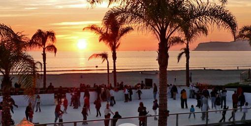 Ice skating at Hotel Del