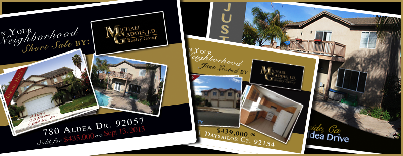 The michael gaddis j d realty group gold home marketing plan for Short sale leads for realtors