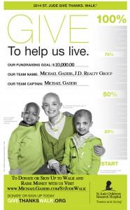 Donate to St. Jude Give Thanks. Walk via Team Michael Gaddis