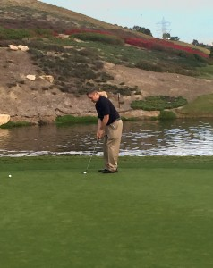 Carlsbad Real Estate Broker taking his one shot at The Crossings at Carlsbad Golf Course